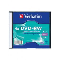 Диск DVD-RW Slim Verbatim 4,7 Гб