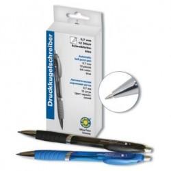 Ручка шариковая автоматическая с рез. вставкой Office-point