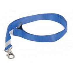 Лента для бэйджа, синяя, шнурок, ланьярда