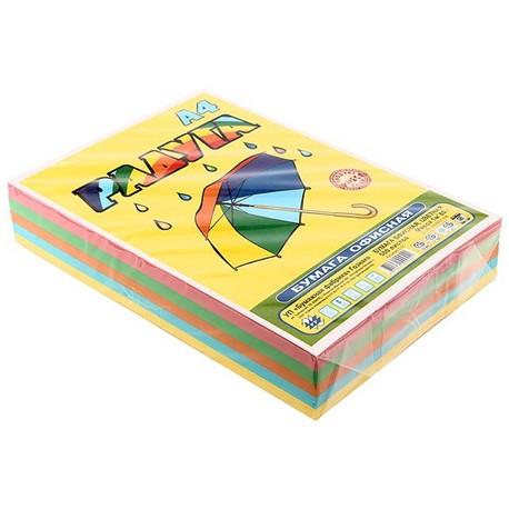 Бумага офисная цветная «Радуга», А4 (210×297 мм), 80 г/м², 250 и 500 л., 5 цветов